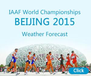 IAAF World Championships BEIJING 2015 Weather Forecast